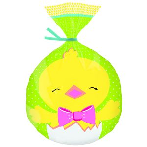Happy Chick Easter Hop and Tweet Shaped Party Bag 15 Pack